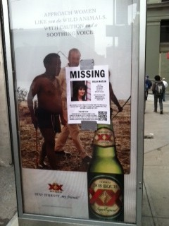 Dos Equis ad on the corner of 18th Street and Park Avenue South
