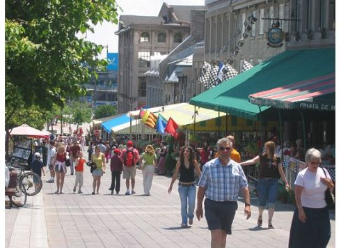 The Place Jacques-Cartier is lined with cafés