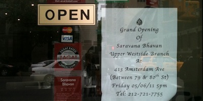 Saravana Bhavan at 26th and Lex