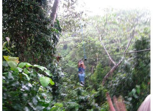 Ziplining at high speed in Costa Rica