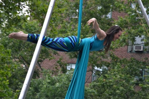 The graceful and gravity-defying aerialist