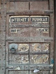Canadian media artist runran, who took this photograph, says that Internet speeds in Pushkar, India, are akin to paint drying