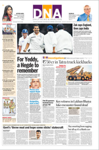 Front page of an issue of DNA India