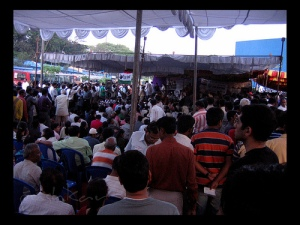 A rally against corruption which took place in Freedom Park, Bangalore on 9 April 2011. Courtesy Pushkar V.