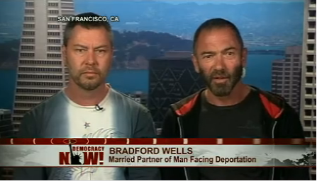 Bradford Wells (right) and Anthony John Makk on Democracy Now!