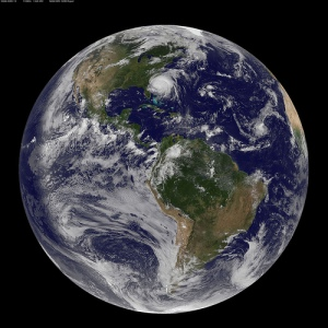 A view of Earth on August 26, 2011. Courtesy NASA Goddard Photo and Video