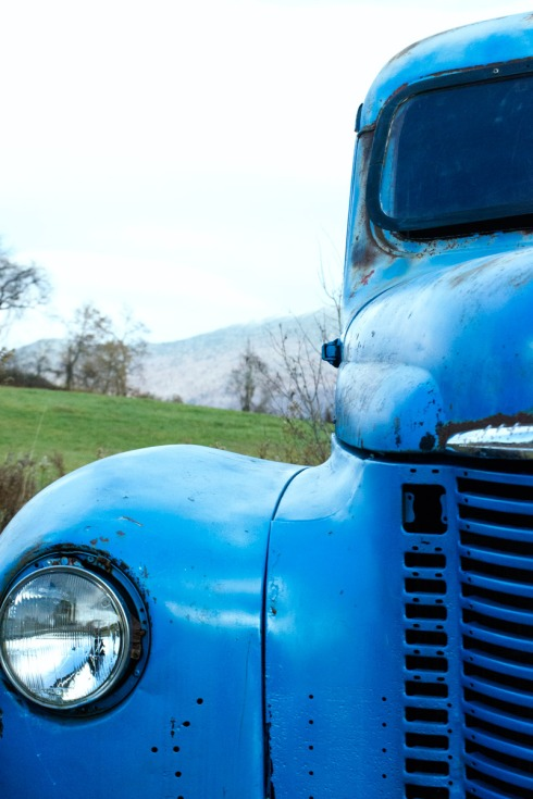 We spotted this vintage blue tractor hanging out behind the Cold Hollow Cider Mill and couldn't resist snapping a few shots